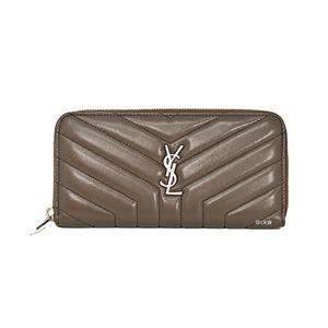 Saint Laurent Loulou Leather Zip-Around Wallet